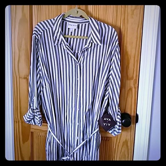 Ava & Viv Dresses & Skirts - Ava &Viv 3x cotton shirtdress NWT